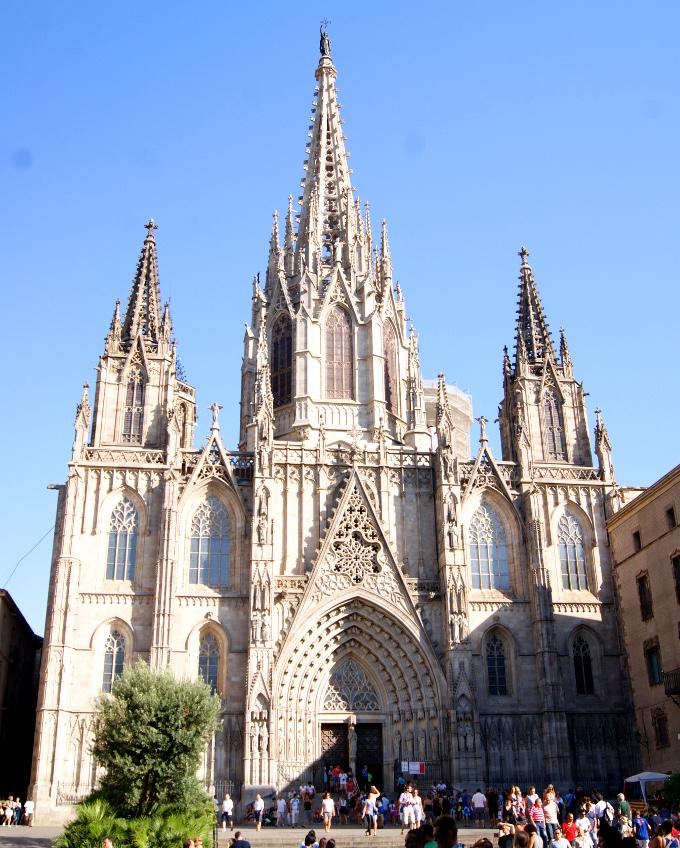 Bardzo zwyczajny kadr z podróży. Katedra św. Eulalii.